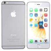 iPhone 6s srebrny 3d model