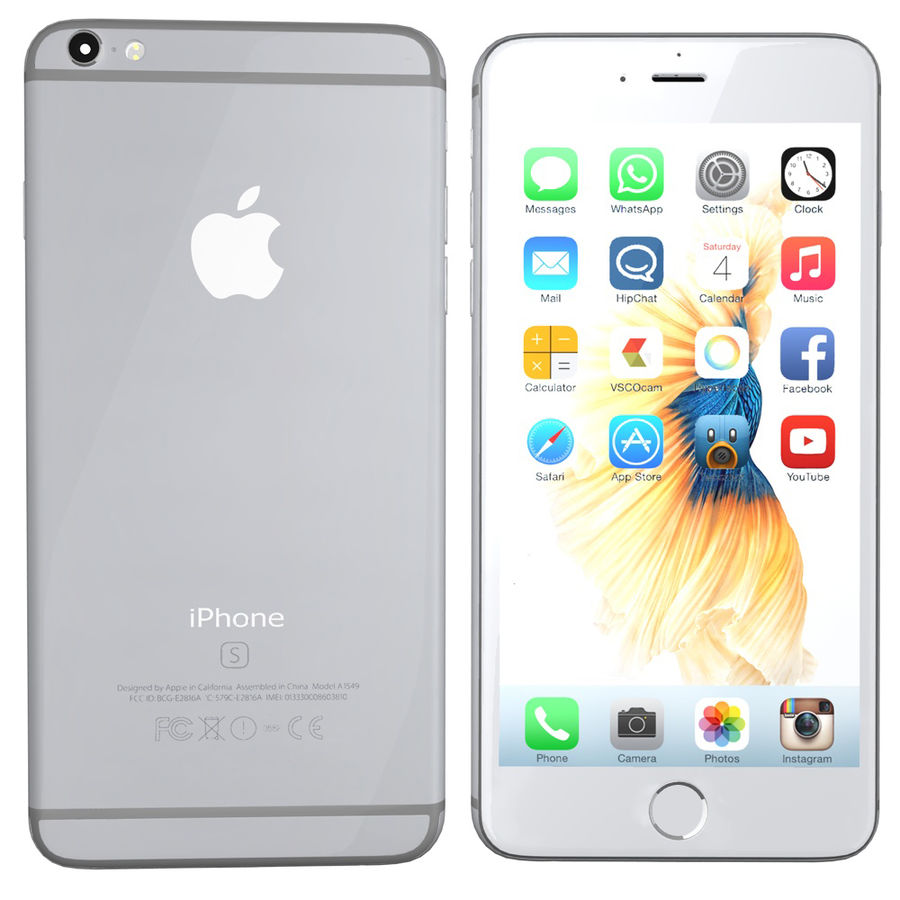 iPhone 6s prateado royalty-free 3d model - Preview no. 1