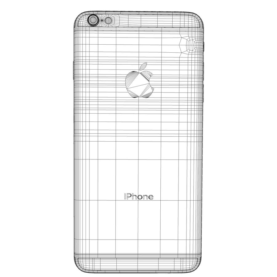 iPhone 6s prateado royalty-free 3d model - Preview no. 4