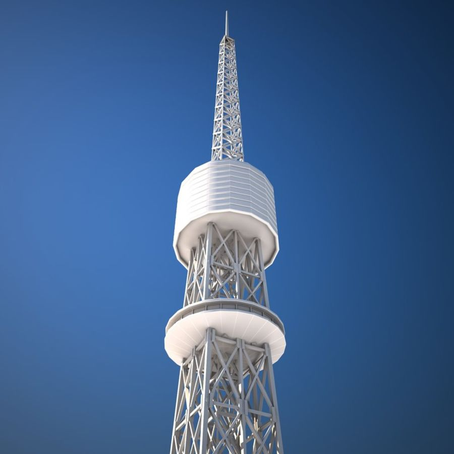 Tokyo Tower Low poly royalty-free 3d model - Preview no. 9