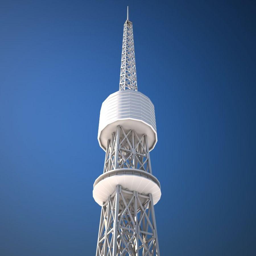 Токийская Башня Низкая поли royalty-free 3d model - Preview no. 9