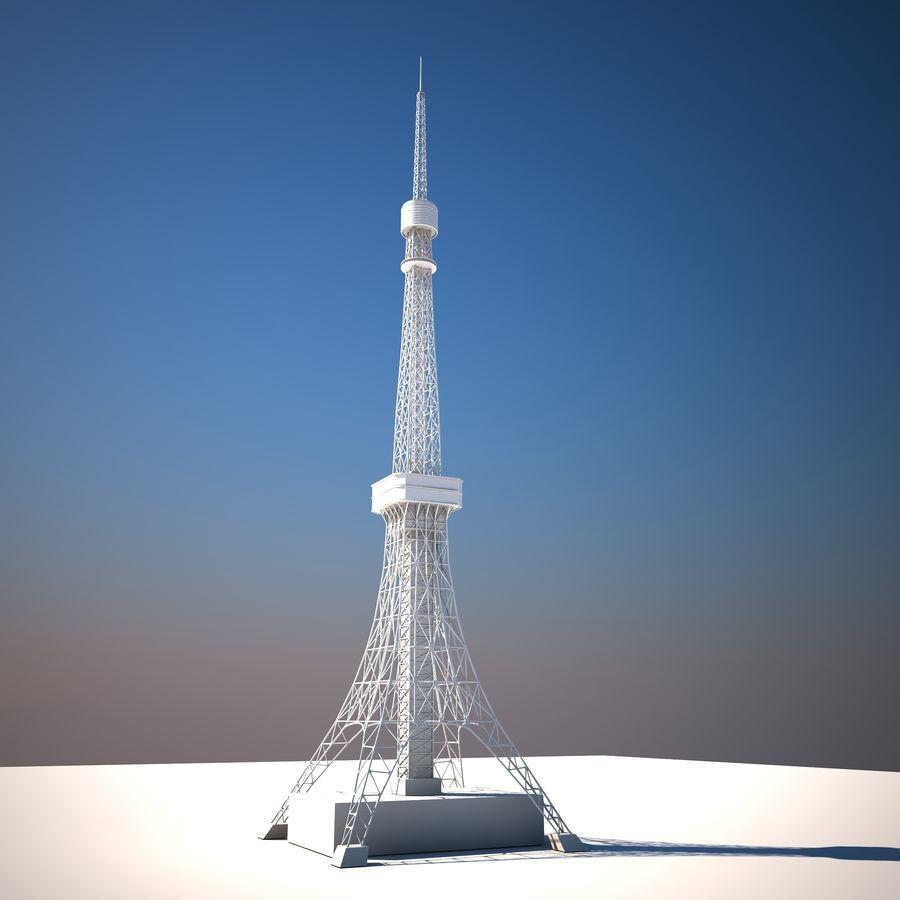 Токийская Башня Низкая поли royalty-free 3d model - Preview no. 2