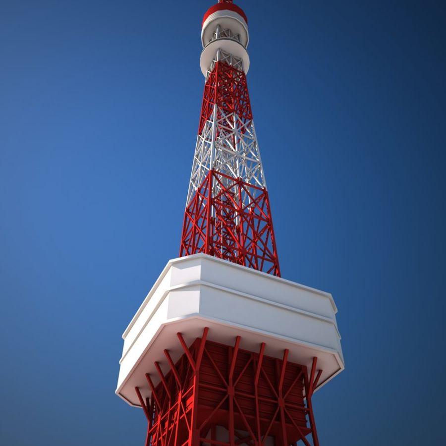 Токийская Башня Низкая поли royalty-free 3d model - Preview no. 6