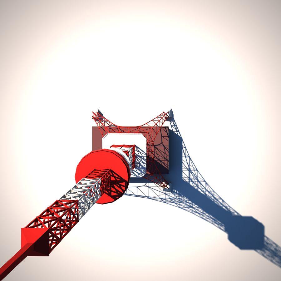 Токийская Башня Низкая поли royalty-free 3d model - Preview no. 5