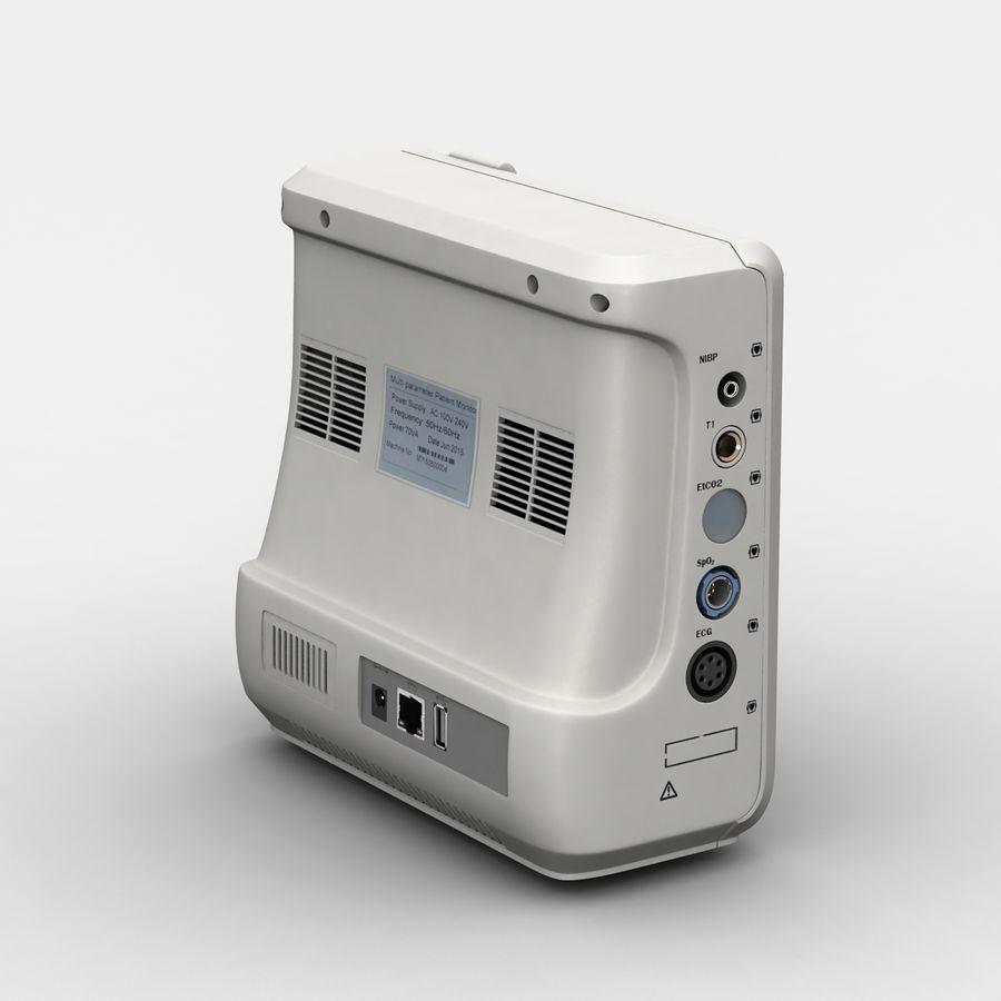 patientmätare med flera parametrar royalty-free 3d model - Preview no. 3