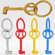 Luxury key 3d model