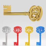 Ancienne clé de luxe ancienne 48 3d model