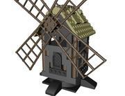 Średniowieczny wiatrak LEGO 3d model
