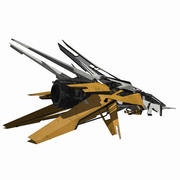 Sci-Fi Space Ship Fighter - SciFi HD Modern Spacecraft 3d model