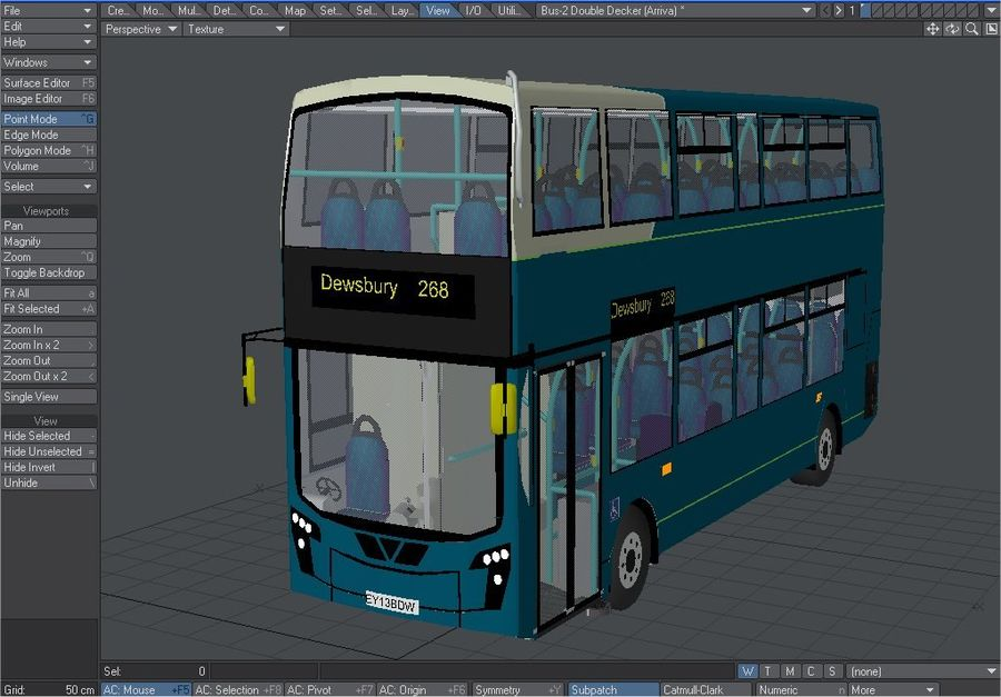Arriva Double Decker Olympic Bus royalty-free 3d model - Preview no. 1