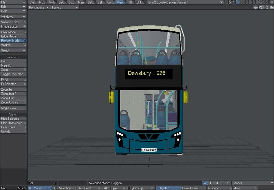 Arriva Double Decker Olympic Bus royalty-free 3d model - Preview no. 6