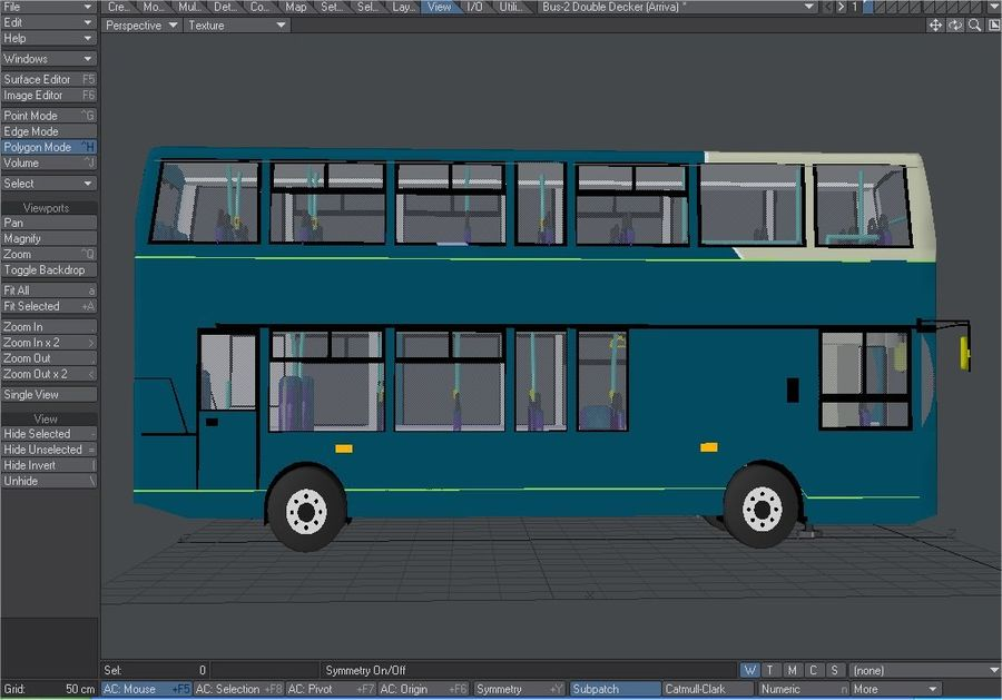 Arriva Double Decker Olympic Bus royalty-free 3d model - Preview no. 7