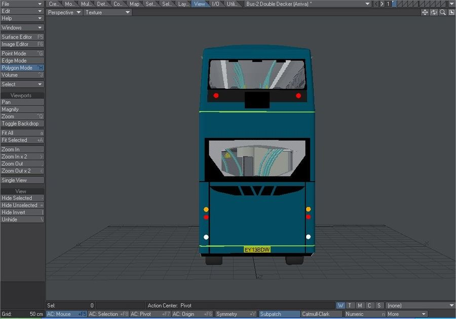 Arriva Double Decker Olympic Bus royalty-free 3d model - Preview no. 8
