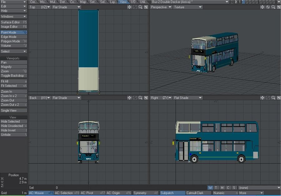 Arriva Double Decker Olympic Bus royalty-free 3d model - Preview no. 5