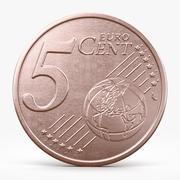 Five Euro Cent 3d model