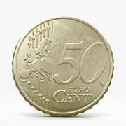 50 euro centów 3d model