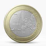 Eén euromunt 3d model