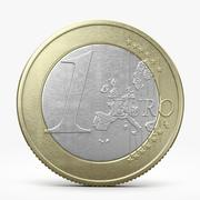 One Euro Coin 3d model