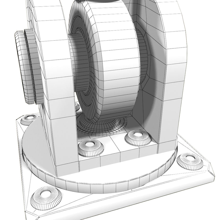 Tłok hydrauliczny royalty-free 3d model - Preview no. 4