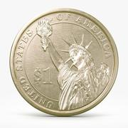 One Dollar Coin 3d model