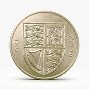 One Pound Coin 3d model