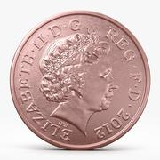 Two Pence Coin 3d model