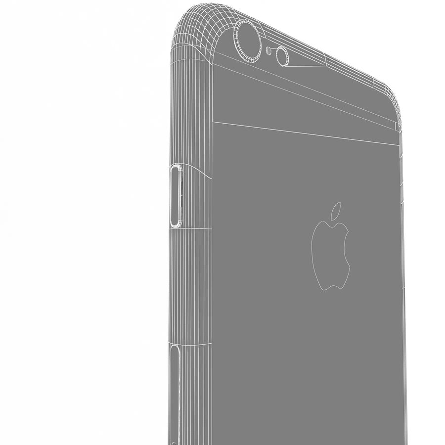 Apple iPhone 6s Artı Altın royalty-free 3d model - Preview no. 16