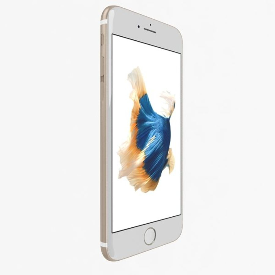 Apple iPhone 6s Artı Altın royalty-free 3d model - Preview no. 2