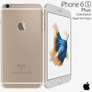 Apple iPhone 6s Plus Dourado 3d model