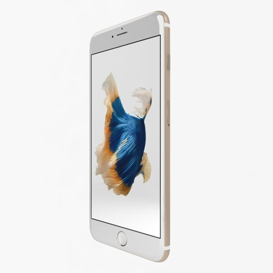 Apple iPhone 6s Artı Altın royalty-free 3d model - Preview no. 3