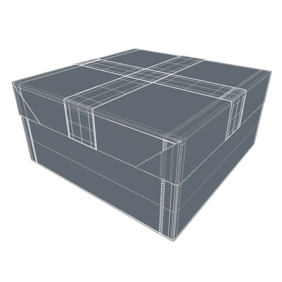 Rote Geschenkbox royalty-free 3d model - Preview no. 9