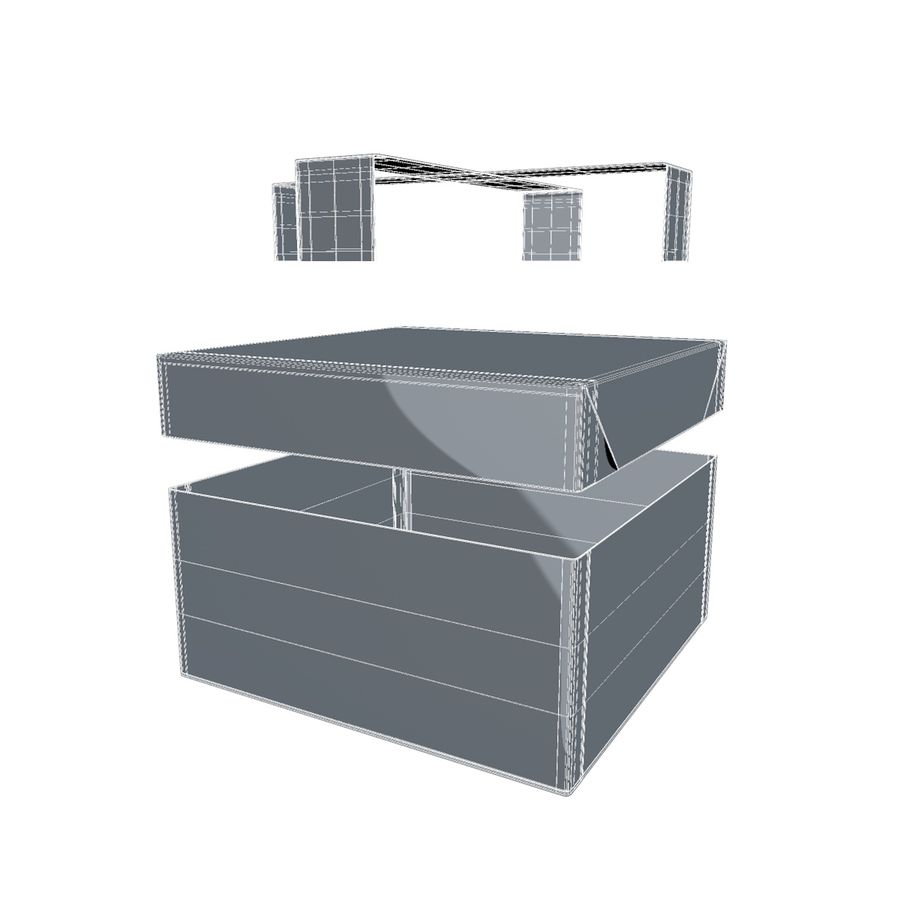 Rote Geschenkbox royalty-free 3d model - Preview no. 11