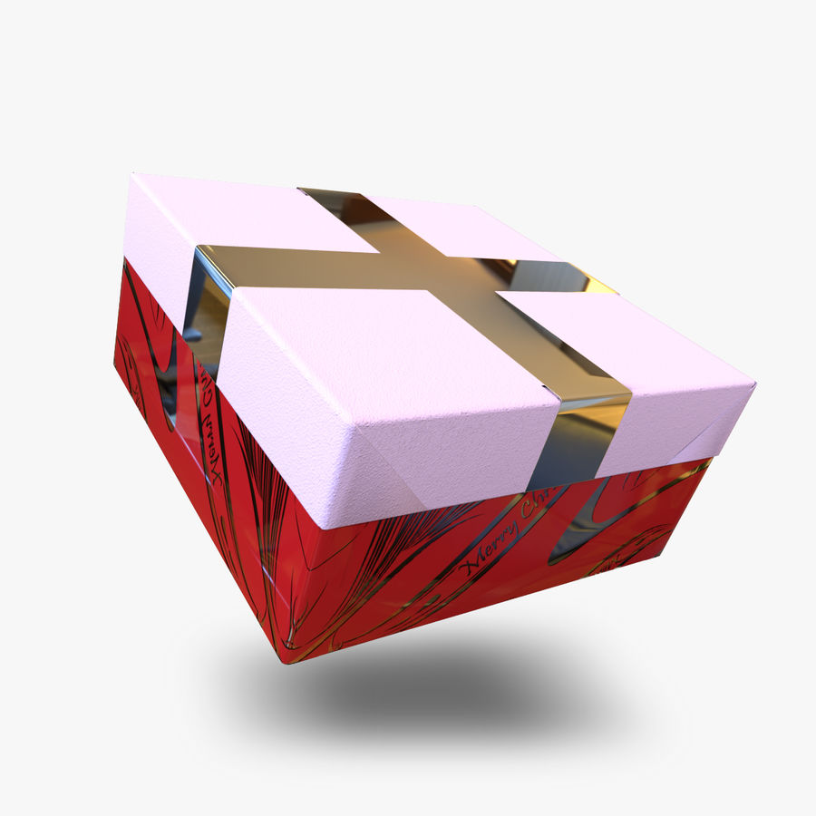 Rote Geschenkbox royalty-free 3d model - Preview no. 1