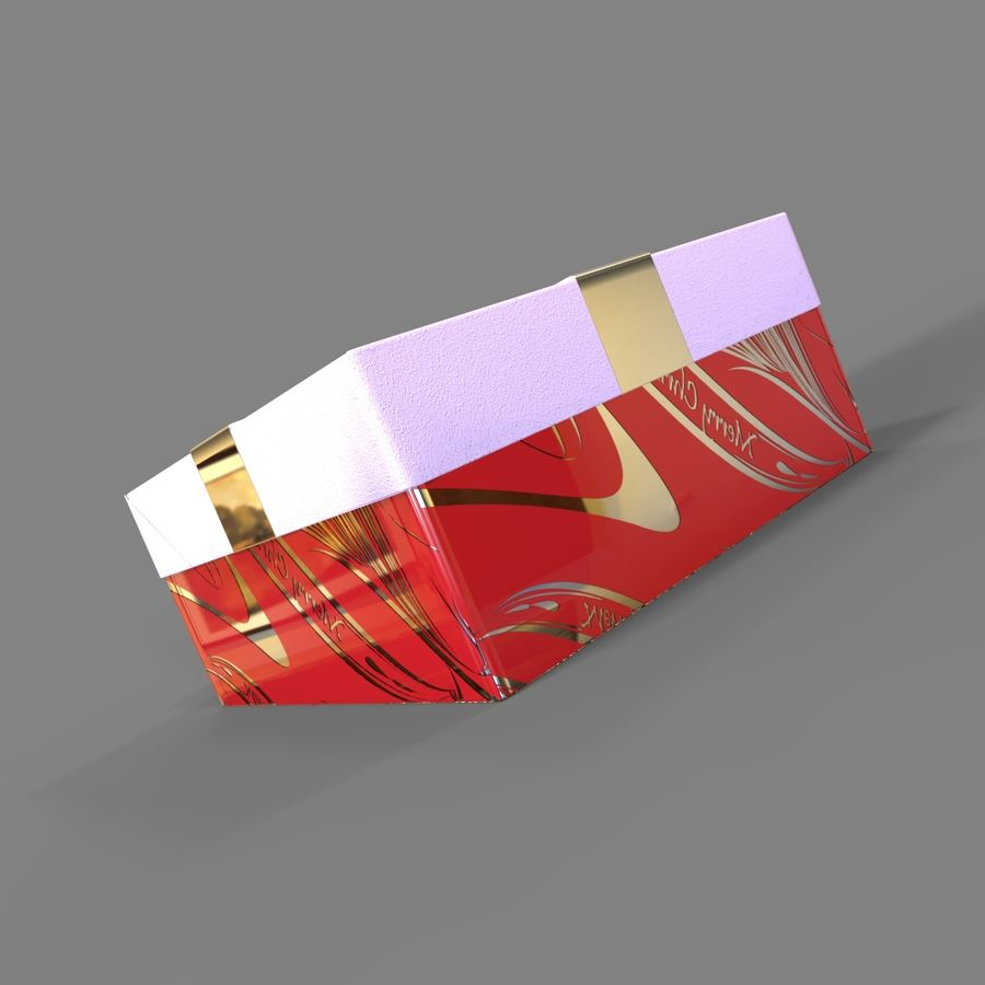 Rote Geschenkbox royalty-free 3d model - Preview no. 5