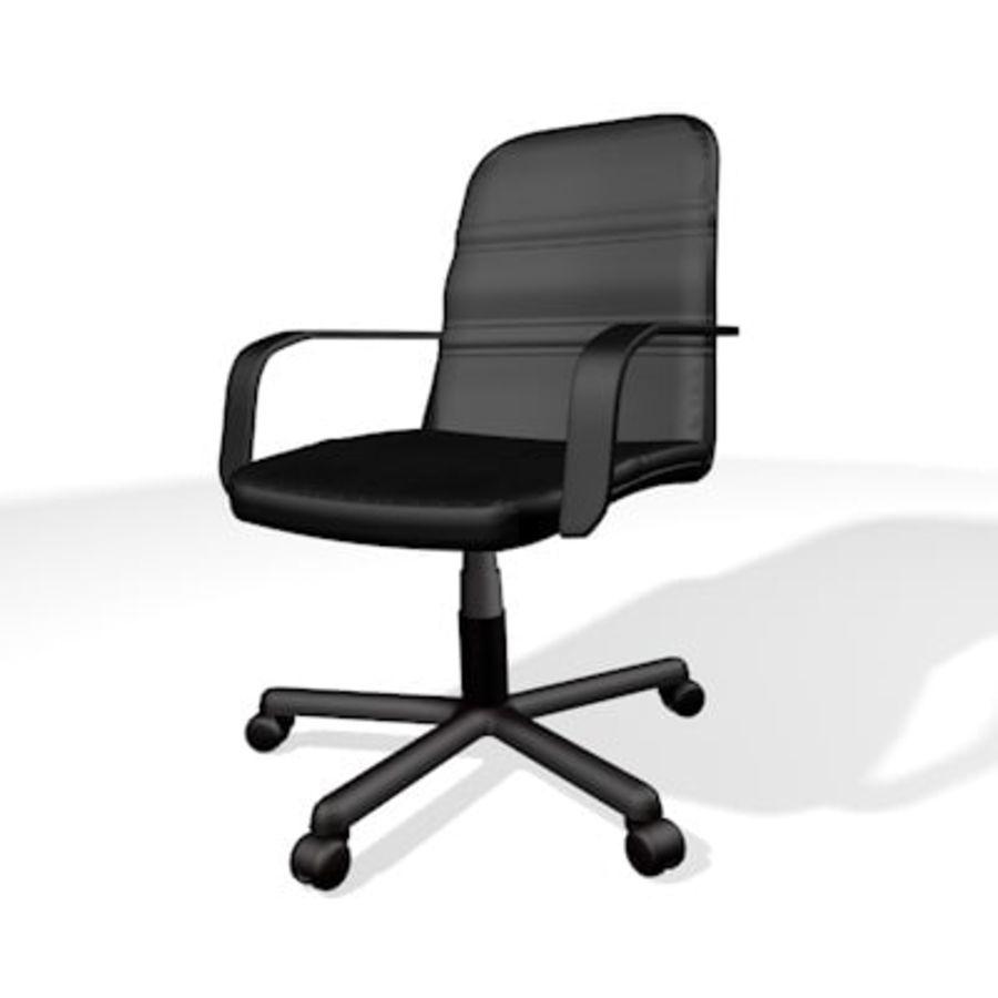 Sedia della scrivania royalty-free 3d model - Preview no. 3