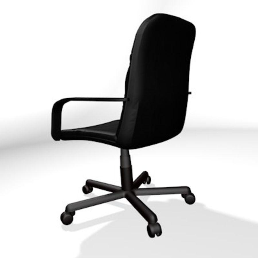 Sedia della scrivania royalty-free 3d model - Preview no. 4