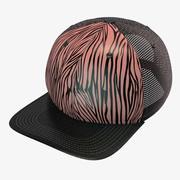斑马棒球帽 3d model