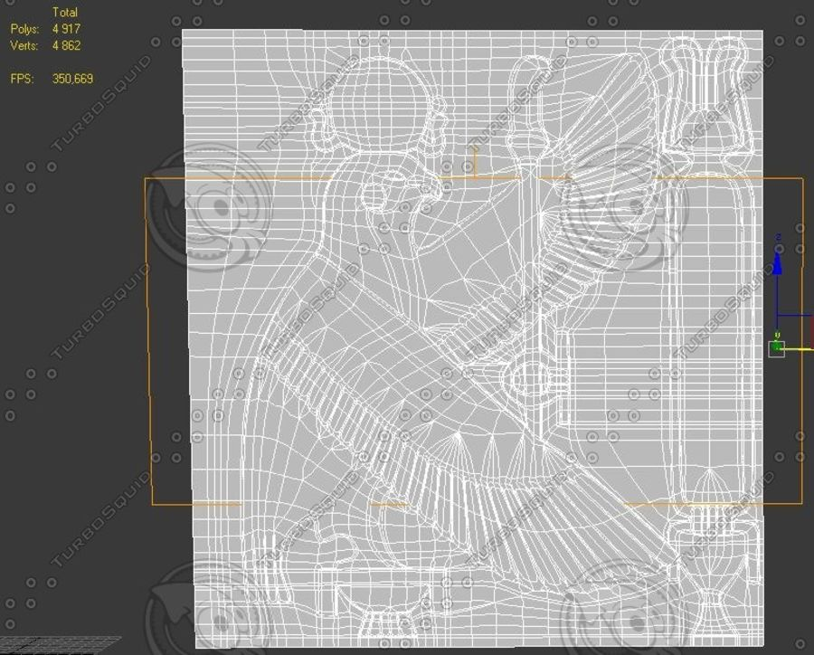 Egyptian bas-relief royalty-free 3d model - Preview no. 2