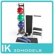 フィットネス機器のコレクション 3d model