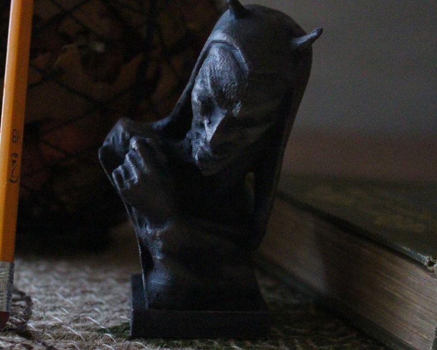 Busto del diavolo royalty-free 3d model - Preview no. 4