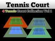 Tennis Court Collection V1 3d model