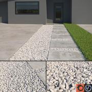 Scatterable White Pebbles 3d model