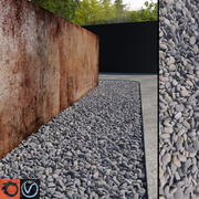 Grey Pebbles 3d model