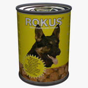 Dog Food Tin Can 3d model
