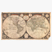 Vintage_World_Map 3d model