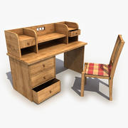 Old Work Table 3d model