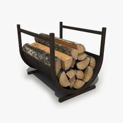 Basket Firewood 3d model
