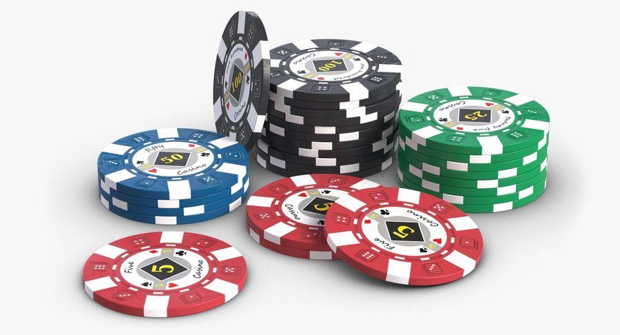 Żetony do kasyna 1 royalty-free 3d model - Preview no. 1