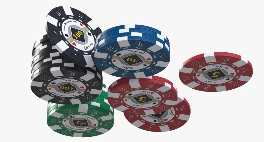 Żetony do kasyna 1 royalty-free 3d model - Preview no. 3