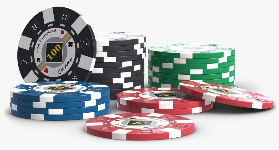 Żetony do kasyna 1 royalty-free 3d model - Preview no. 5